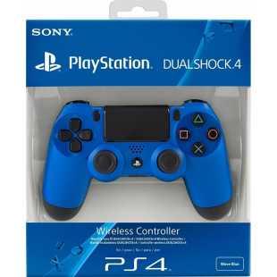 Геймпад DualShock 4 для PS4 беспроводной Wave Blue (синий) (CUH-ZCT2E)