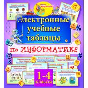 Электронные учебные таблицы по информатике. 1-4 классы 2.0...