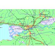Карта Мира (ADC WorldMap) Карта России и Европы общегеографи...