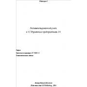 Регламентированный учет в 1С ERP 2.0