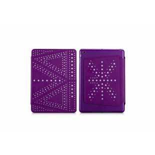 Чехол-книжка The Core Polka для Apple iPad mini 1/2/3 (силикон полиуретан с подставкой) фиолетовый