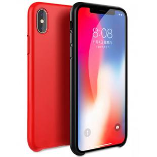 Чехол-накладка Silicone Case Series для Apple iPhone X (10) красный