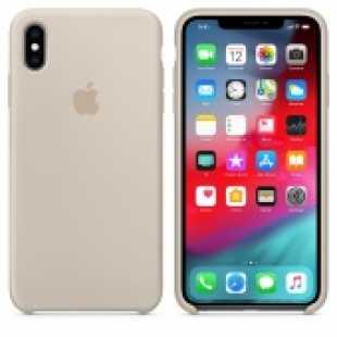 Чехол силиконовый Apple для iPhone XS Max Бежевый