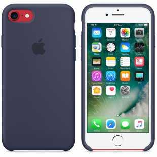 Чехол силиконовый Apple оригинальный для iPhone 7 и 8 Темно-синий