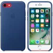Чехол кожаный Apple оригинальный для iPhone 7 и 8 Синий...
