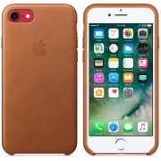 Чехол кожаный Apple оригинальный для iPhone 7 и 8 Коричневый...