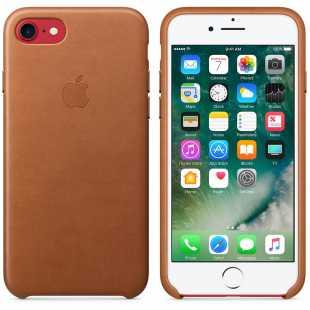 Чехол кожаный Apple оригинальный для iPhone 7 и 8 Коричневый