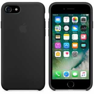 Чехол силиконовый Apple оригинальный для iPhone 7 и 8 Черный