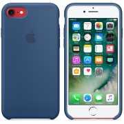 Чехол силиконовый Apple оригинальный для iPhone 7 и 8 Синий...