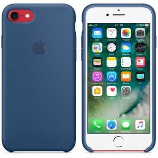 Чехол силиконовый Apple оригинальный для iPhone 7 и 8 Синий