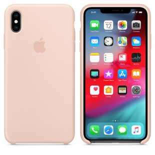 Чехол силиконовый Apple для iPhone XS Розовый песок