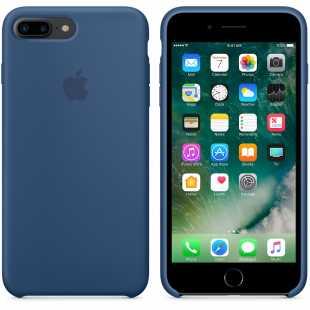 Чехол силиконовый Apple оригинальный для iPhone 7 Plus и 8 Plus Синий