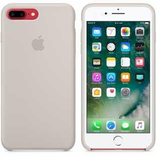 Чехол силиконовый Apple оригинальный для iPhone 7 Plus  и 8 Plus Бежевый