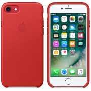 Чехол кожаный Apple оригинальный для iPhone 7 и 8 Красный...