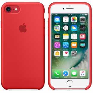 Чехол силиконовый Apple оригинальный для iPhone 7 и 8 Красный