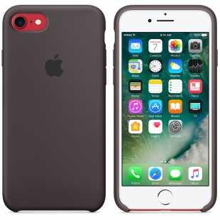 Чехол силиконовый Apple оригинальный для iPhone 7 и 8 Темное какао