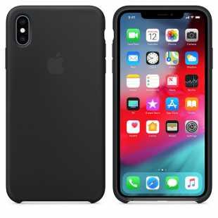 Чехол силиконовый Apple для iPhone XS Черный