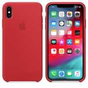Чехол силиконовый Apple для iPhone XS Красный...