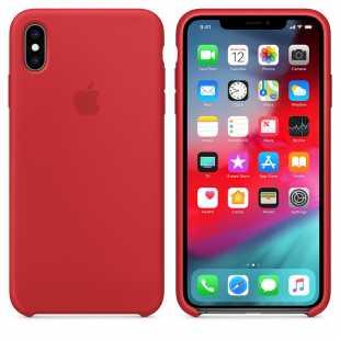 Чехол силиконовый Apple для iPhone XS Красный