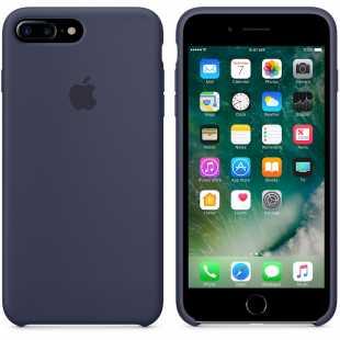 Чехол силиконовый Apple оригинальный для iPhone 7 Plus и 8 Plus Темно-синий