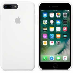 Чехол силиконовый Apple оригинальный для iPhone 7 Plus и 8 Plus Белый