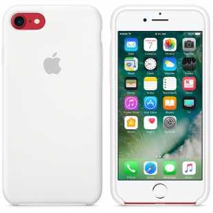 Чехол силиконовый Apple оригинальный для iPhone 7 и 8 Белый