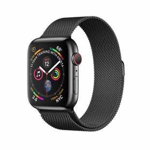Apple Watch Series 4 44mm GPS+Cellular Space Black Stainless Steel Case with Space Black Milanese Loop