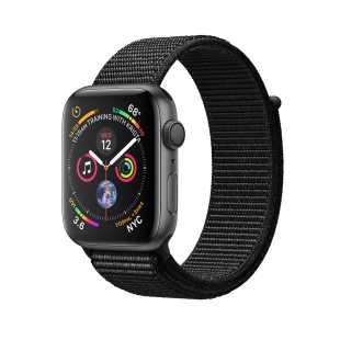 Apple Watch Series 4 44mm Space Gray Aluminum Case with Black Sport Loop