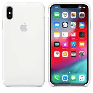 Чехол силиконовый Apple для iPhone XS Белый