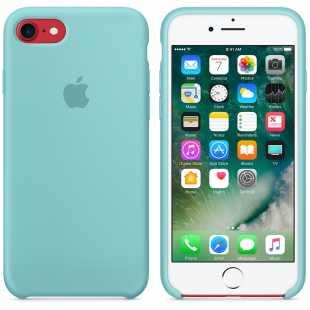 Чехол силиконовый Apple оригинальный для iPhone 7 и 8 Голубой