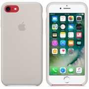 Чехол силиконовый Apple оригинальный для iPhone 7 и 8 Бежевы...