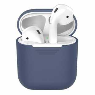 Чехол силиконовый для AirPods синий