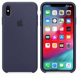Чехол силиконовый Apple для iPhone XS Темно синий