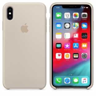 Чехол силиконовый Apple для iPhone XS Бежевый