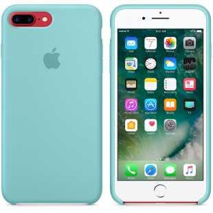 Чехол силиконовый Apple оригинальный для iPhone 7 Plus и 8 Plus Голубой