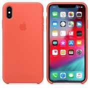 Чехол силиконовый Apple для iPhone XS Спелый нектарин...