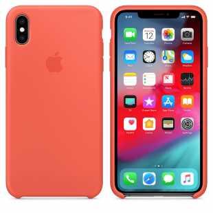 Чехол силиконовый Apple для iPhone XS Спелый нектарин